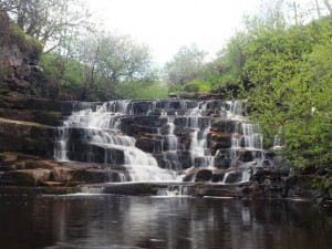 A waterfall on Whitsundale Beck