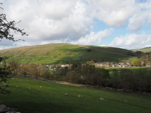 The view of Kettlewell from the small layby I parked my car