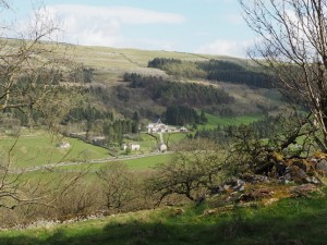 Looking down to Scargill House