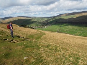 Looking back down the permissive path towards Kettlewell