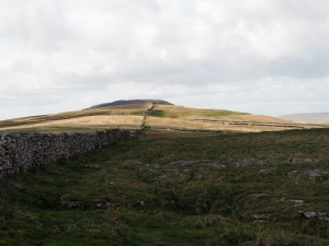 Following the wall towards Middlesmoor Pasture