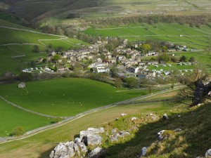 Looking down at Kettlewell from Gate Cote Scar