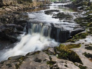 A small waterfall in Thorns Gill