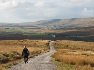 Tim following the Dales Way back down to Gearstones