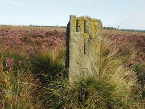 Boundary stone with OS Benchmark