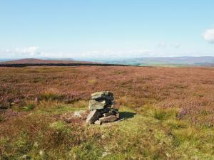 The small cairn on the top of Round Hill