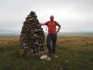 By the large cairn on the top of Little Asby Scar