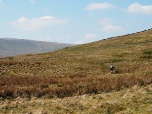 The cyclist who I nearly caught up with on High Pasture