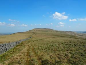 Following the wall towards Little Whernside