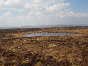 Looking back down at Coverdale Tarn
