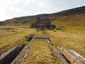 The remains of a winding house (I think) at Carle Fell Quarry