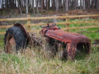 An old tractor by Lumley Farm