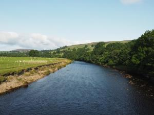 The River Swale from the Reeth Swing Bridge
