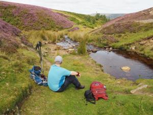 Paul at our lunch spot in Cogden Gill