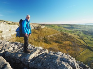 Mick on Malham Cove