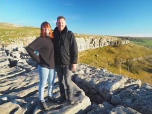 Sam and Tony on Malham Cove