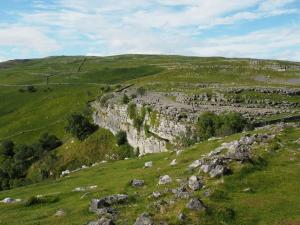 Malham Cove comes into view