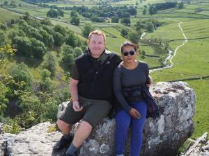 Stu and Suthawee on Malham Cove