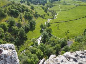 Looking down to Malham Beck