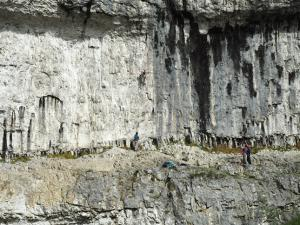 Climbers of Malham Cove