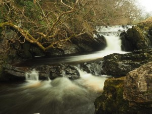The lovely waterfall below Birkett Common