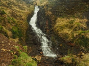 The lower waterfall in Red Scar Gill