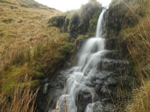 The upper waterfall in Red Scar Gill