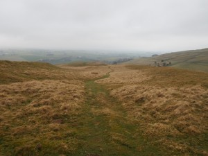 The path dropping down from Great Bell