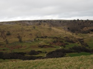 Clints Scar and Orgate Farm from Telfit Bank