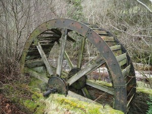 The old mill wheel alongside Marske Beck