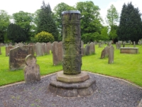 The remains of a Saxon cross in the churchyard of St Mary's