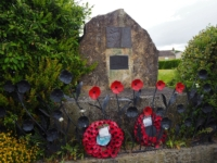 The memorial to the six people who died from a German parachute mine in 1941