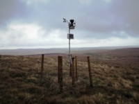 The recently installed weather station