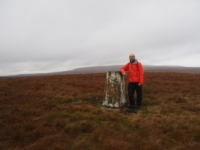 The trig point on the top of Meugher