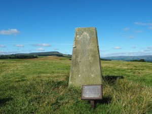The Middleham Low Moor trig point