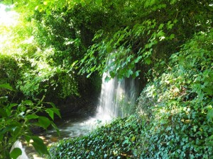 A small waterfall below Coverham Church