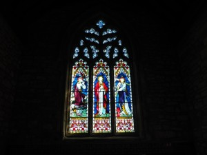 Stained glass window in Holy Trinity Church