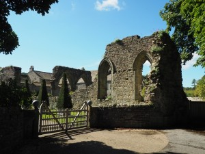 The ruins of Coverham Abbey