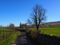 Turning off High Road at Plumtree Cottage