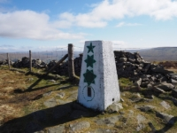 The Calf Top trig point, the highest point on Middleton Fell