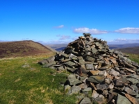 The cairn on the top of Castle Knott