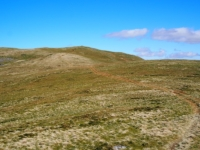 Looking back up at Castle Knott