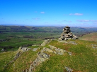 The cairn on Eskholme Pike