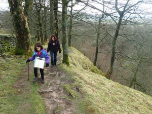 The steep climb out of Whitfield Gill