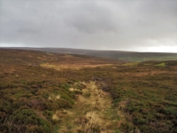 Looking back over my route across Conistone Moor after a heavy shower