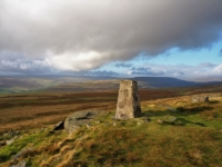 The Conistone Moor trig point near Capplestone Gate