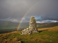 The cairn on Davy Dimple