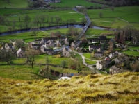 The birds-eye view of Conistone from Davy Dimple