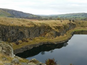 Looking down in to Helwith Bridge Quarry