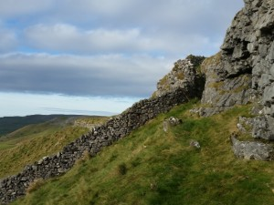 The notch by the wall on Moughton Nab